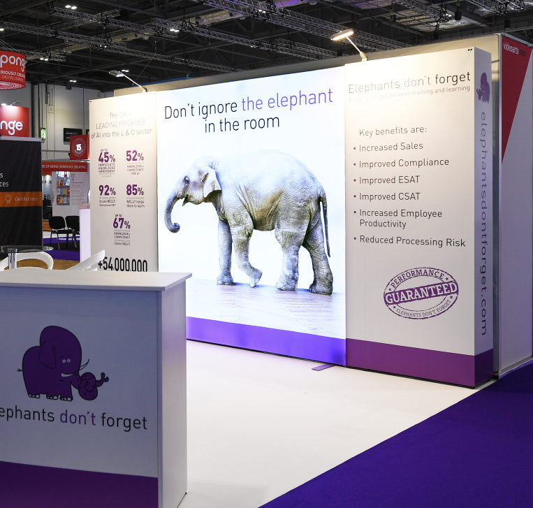 Elephant and Nomadic Curved Pop Up Stand