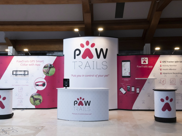 Paw trails Pop Up Trade Show Stand by Nomadic Display