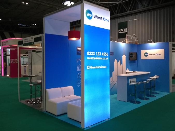 Westone Backlit Exhibition Stand